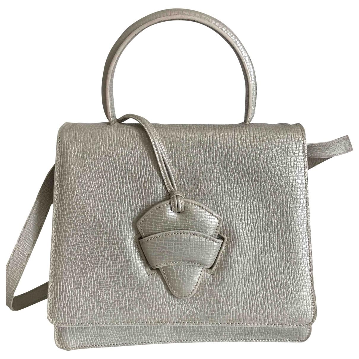 Loewe Barcelona Silver Leather handbag for Women \N