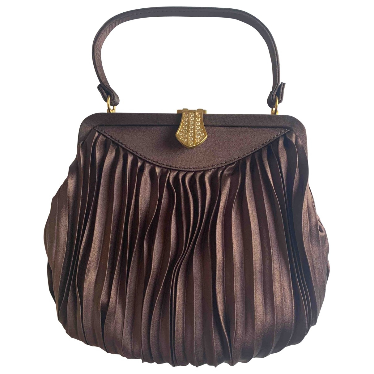 Chloé \N Brown Silk Clutch bag for Women \N