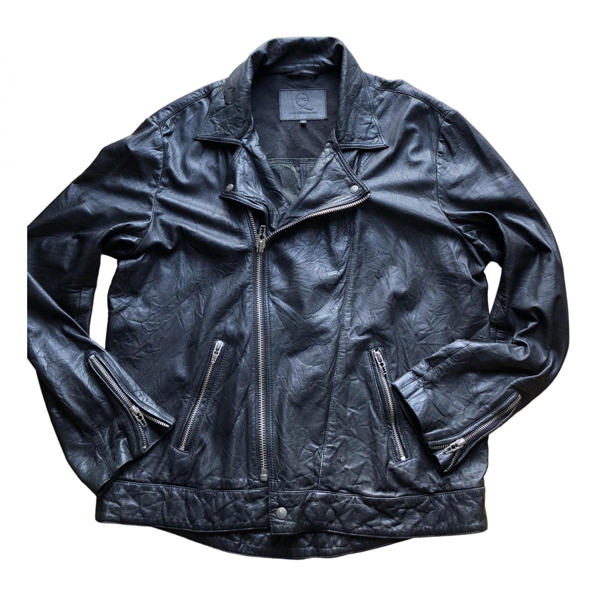 Mcq \N Black Leather jacket  for Men 48 IT