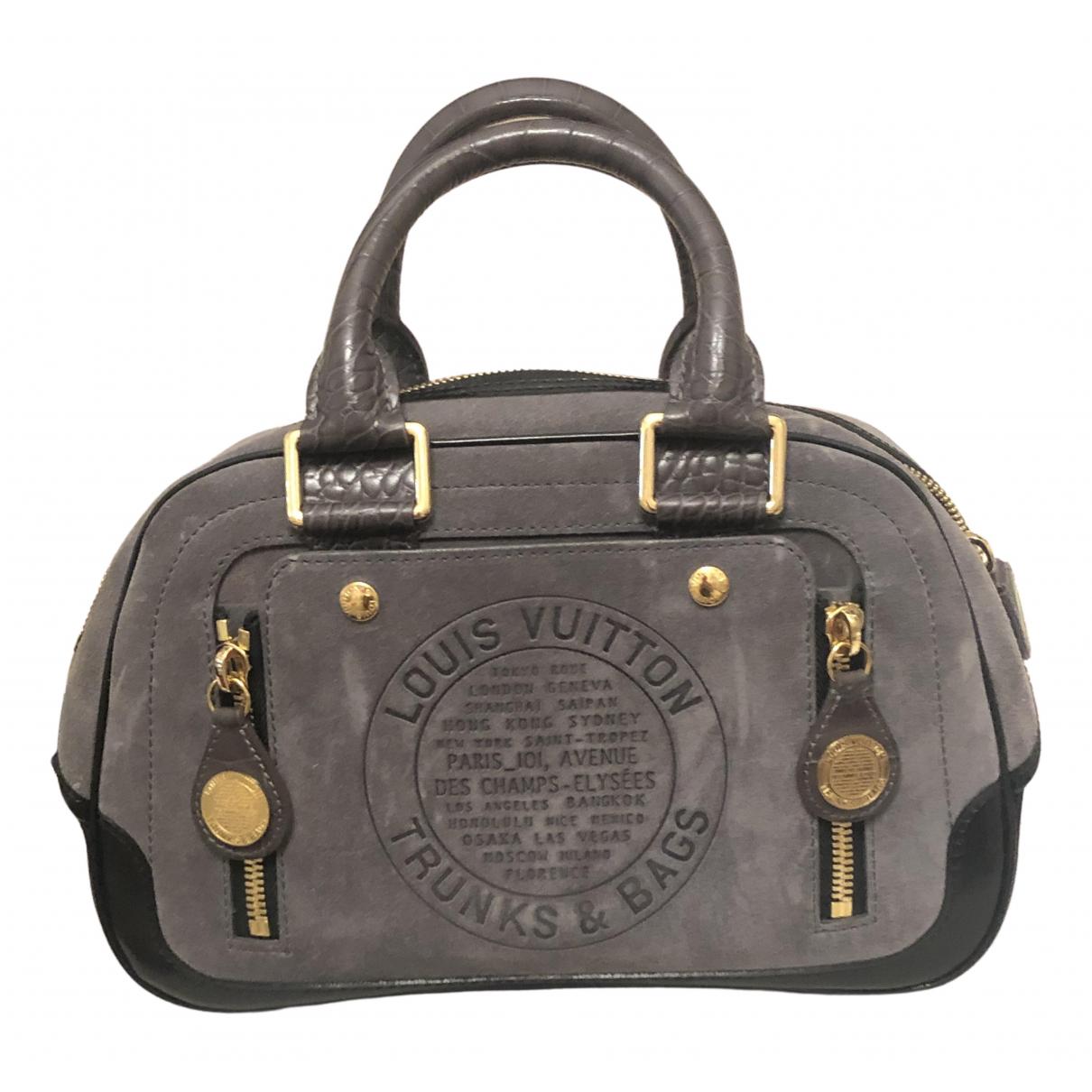 Louis Vuitton \N Grey Suede handbag for Women \N