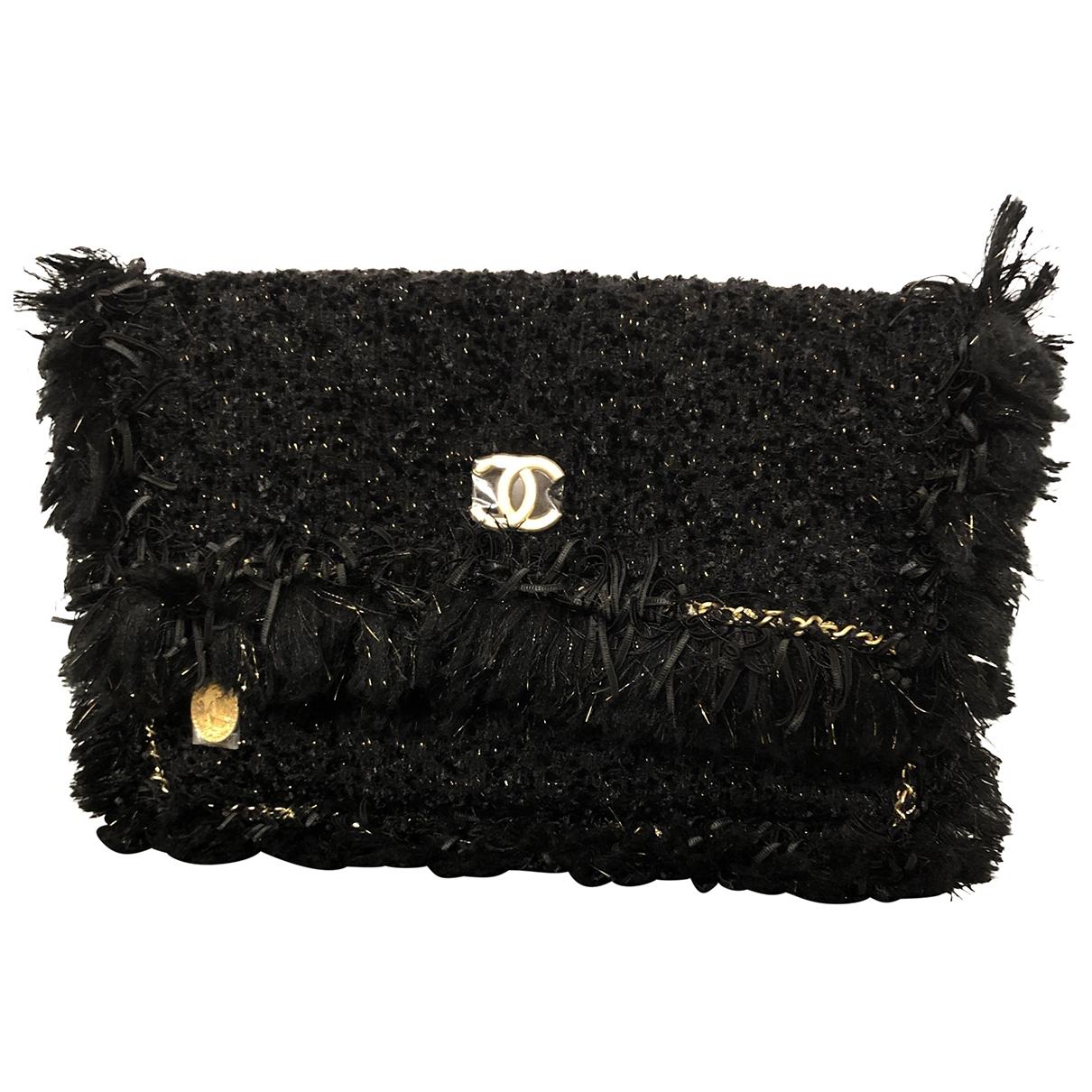 Chanel \N Clutch in  Schwarz Tweed