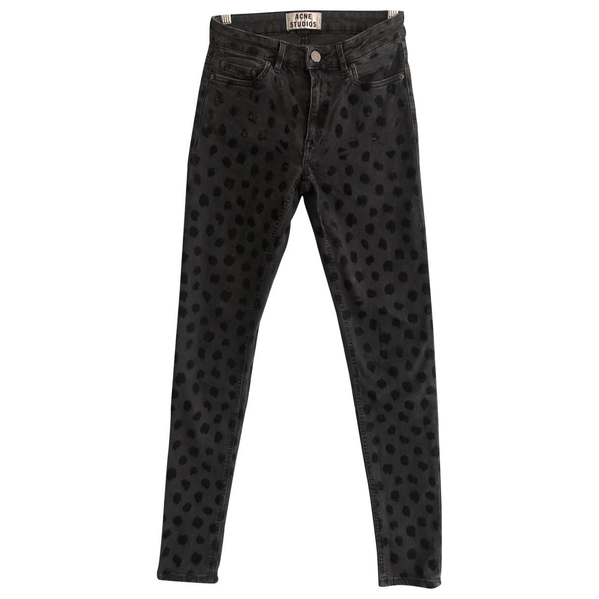 Acne Studios Skin 5 Grey Cotton - elasthane Jeans for Women 27 US
