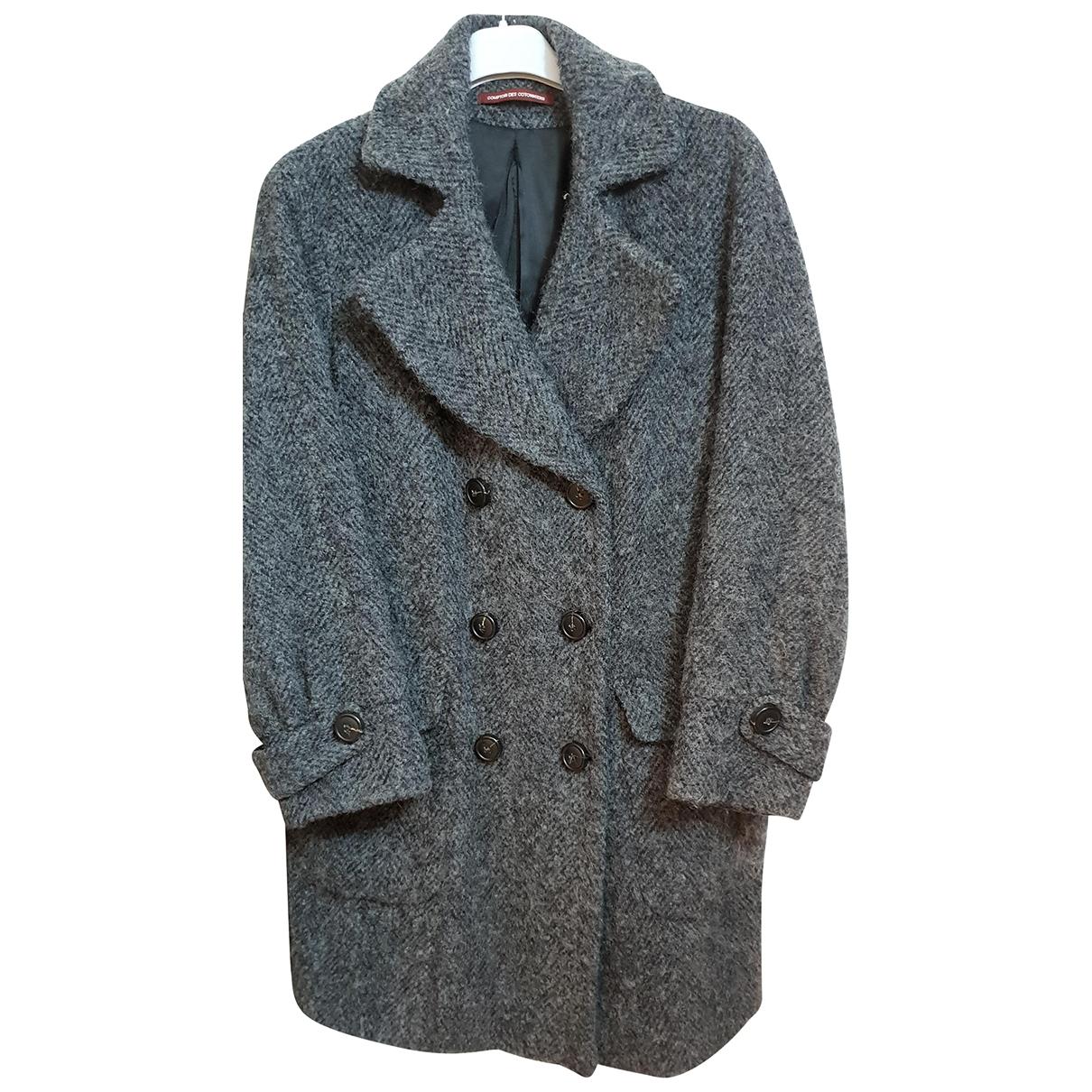 Comptoir Des Cotonniers - Manteau   pour femme en laine - gris
