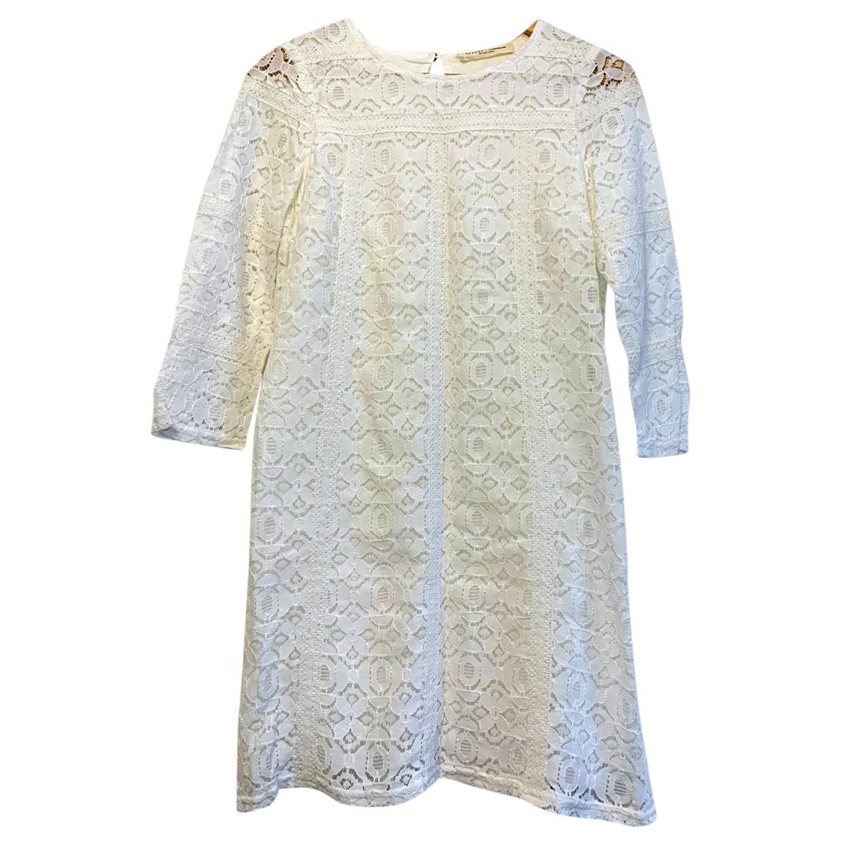 Sezane - Robe   pour femme en coton - blanc