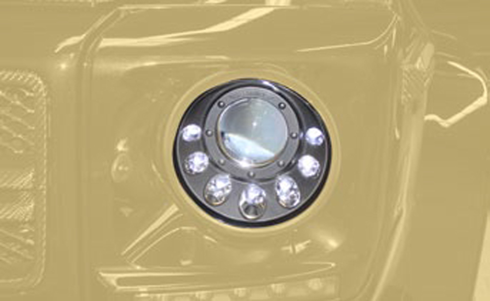 Mansory 463 XLED 000 Xenon Headlight with LED DRL Design Black Inlay Mercedes-Benz G-Class W463 99-17