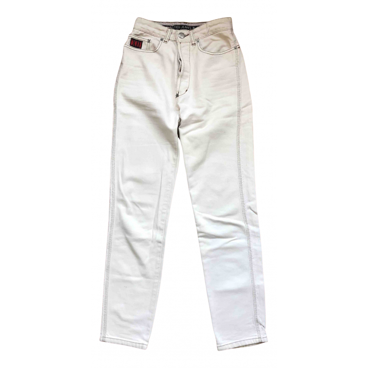 Jean Paul Gaultier \N White Denim - Jeans Jeans for Women 27 US