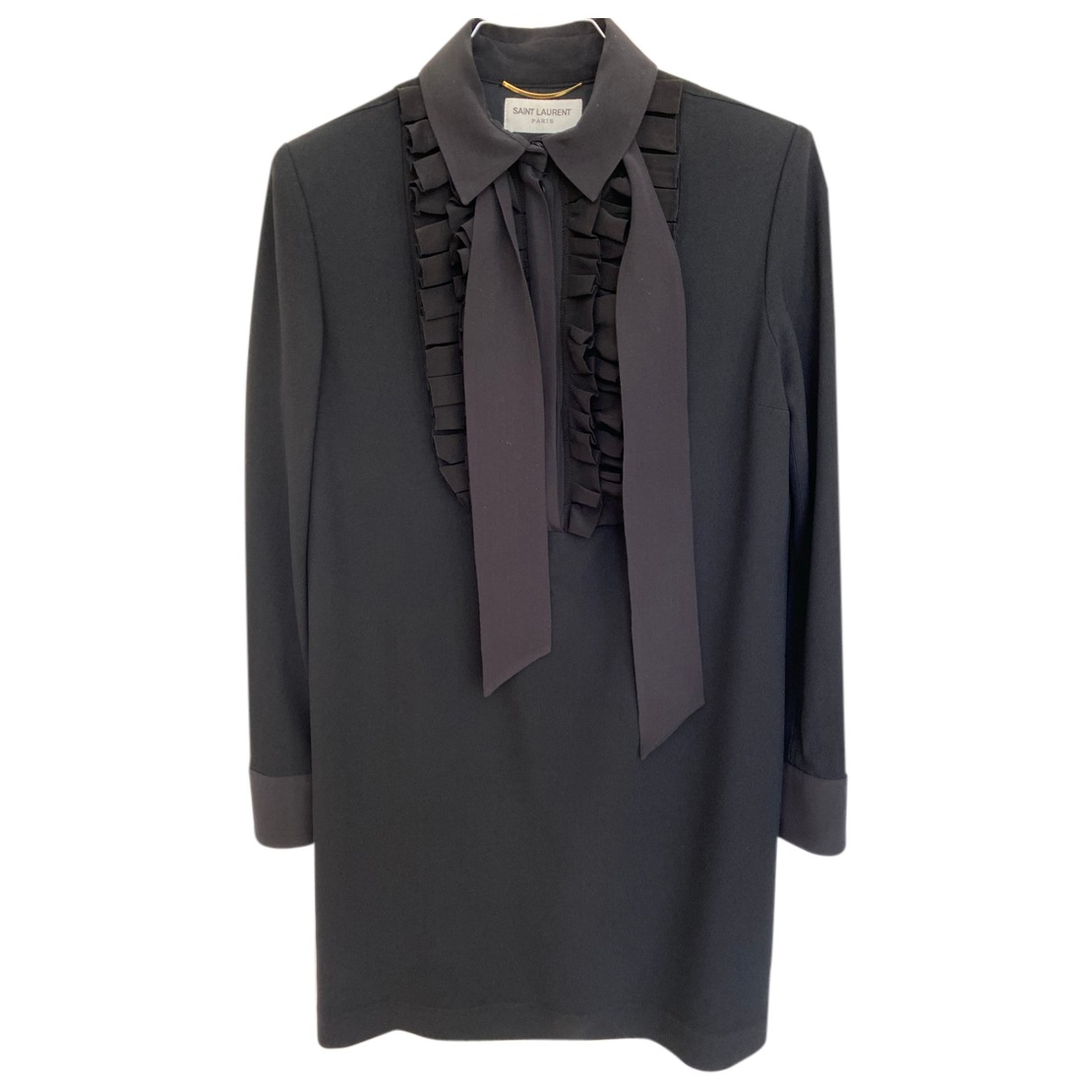 Saint Laurent \N Kleid in  Schwarz Viskose