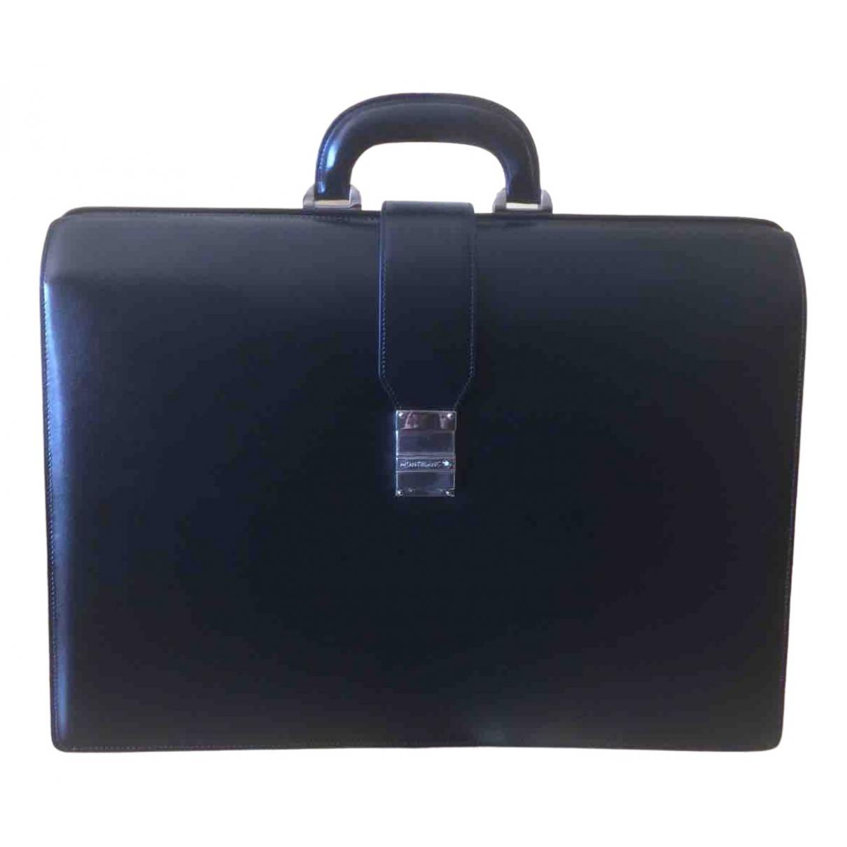 Montblanc \N Black Leather bag for Men \N