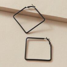 1pair Square Hoop Earrings