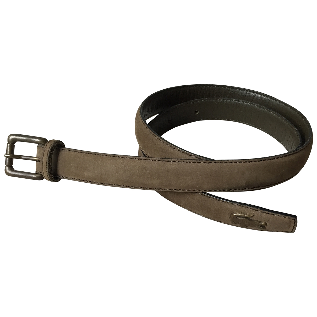 Lacoste \N Khaki Suede belt for Women 75 cm