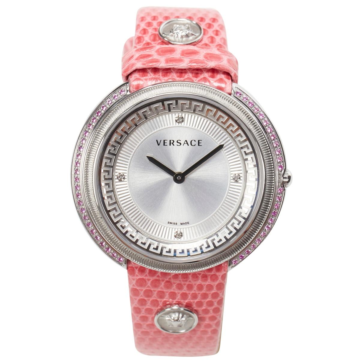 Versace \N Uhr in  Rosa Stahl