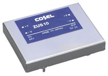 Cosel 10W Isolated DC-DC Converter Through Hole, Voltage in 9 → 18 V dc, Voltage out 5V dc
