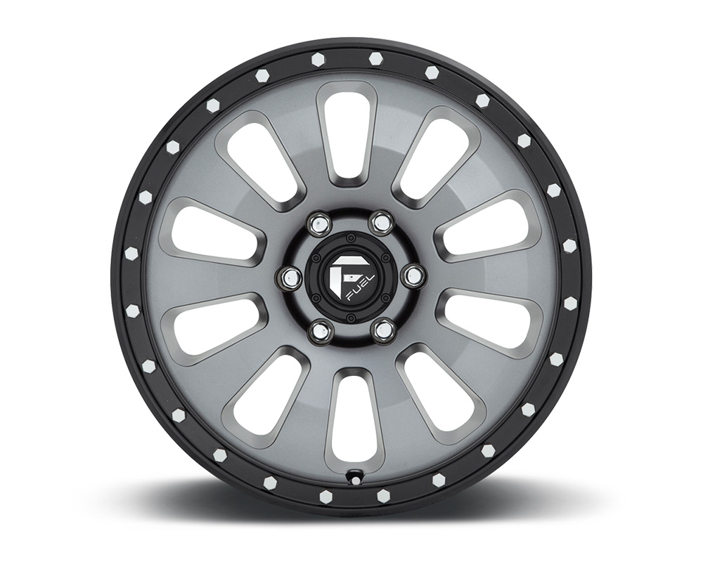 Fuel D648 Tactic Anthracite w/ Black Lip 1-Piece Cast Wheel 18x9 5x127 01mm