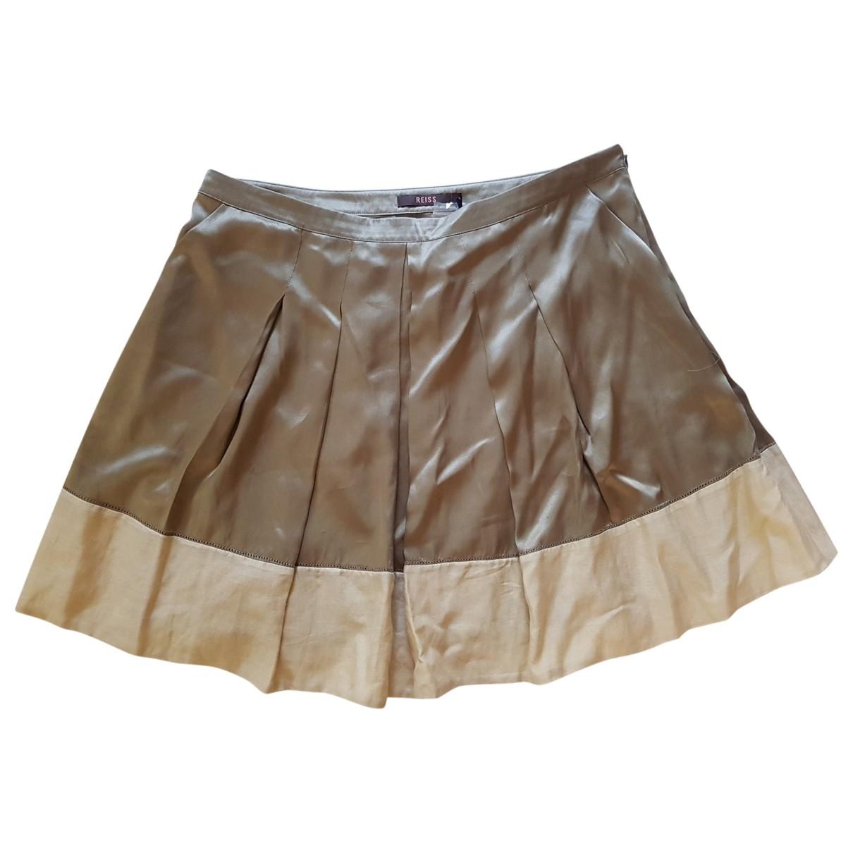 Reiss \N Beige Silk skirt for Women 12 UK