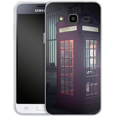 Samsung Galaxy J3 (2016) Silikon Handyhuelle - London Calling 2 von Ronya Galka