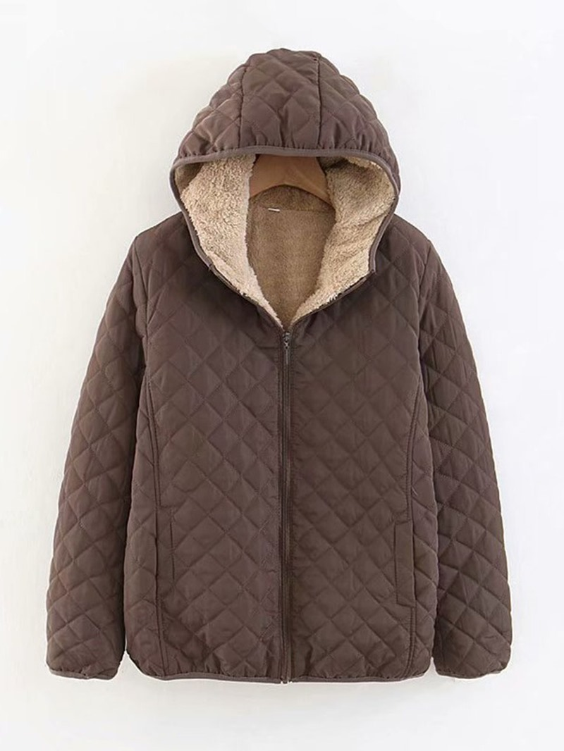 Ericdress Thick Zipper Loose Standard Women's Cotton Padded Jacket