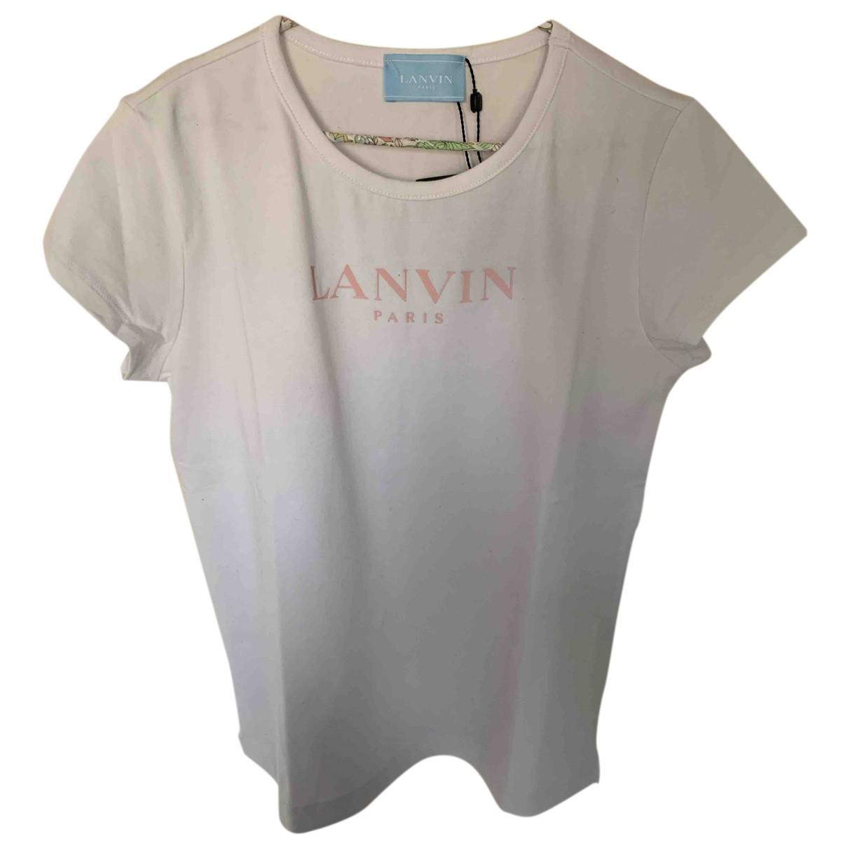 Lanvin - Top   pour enfant en coton - blanc