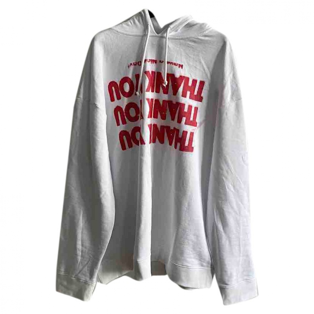 Raf Simons \N Pullover.Westen.Sweatshirts  in  Weiss Baumwolle