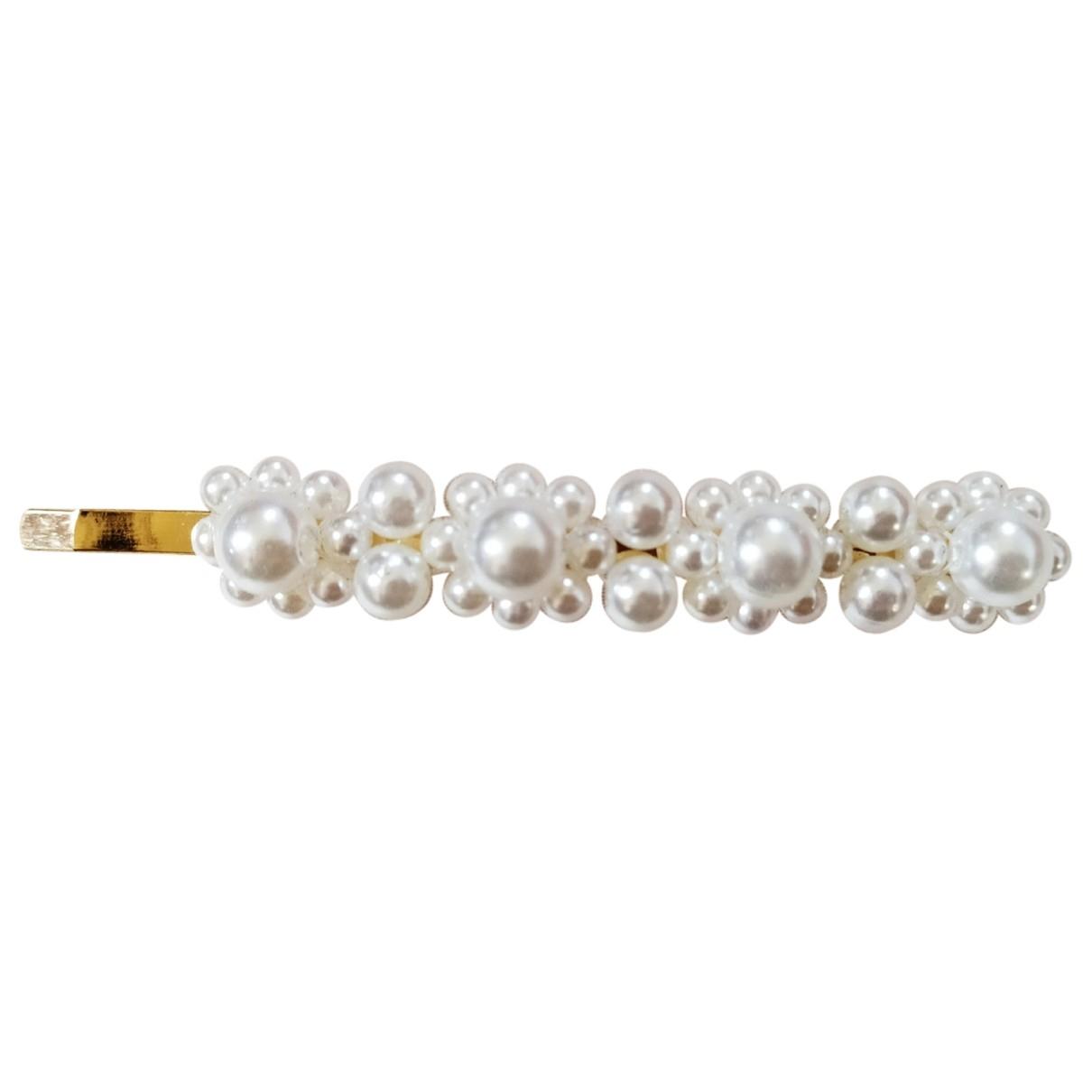 - Bijoux de tete Nacre pour femme en plaque or - blanc