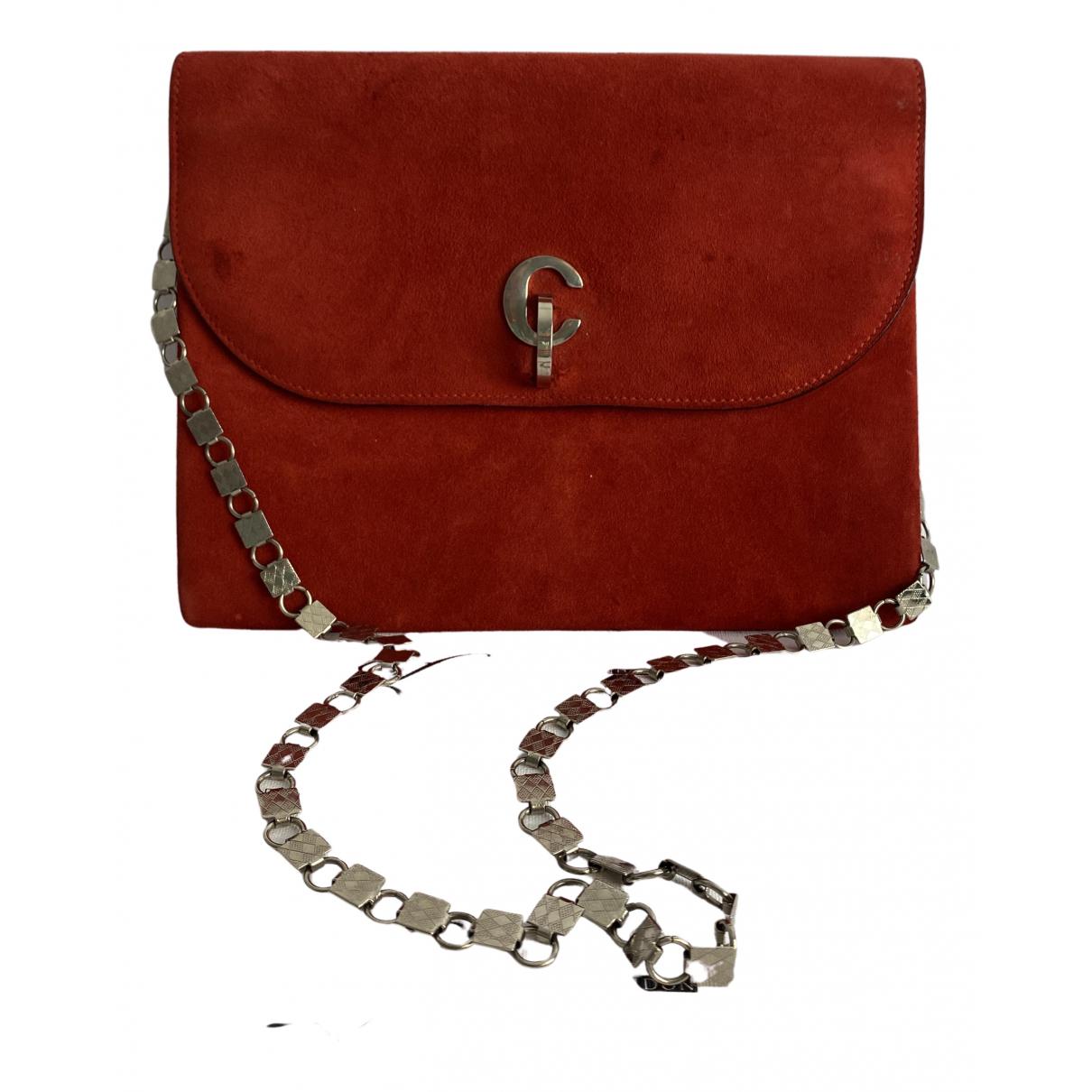 Dior \N Clutch in  Rot Veloursleder