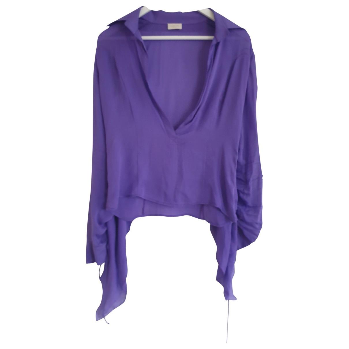 Valentino Garavani \N Purple Silk  top for Women 40 IT