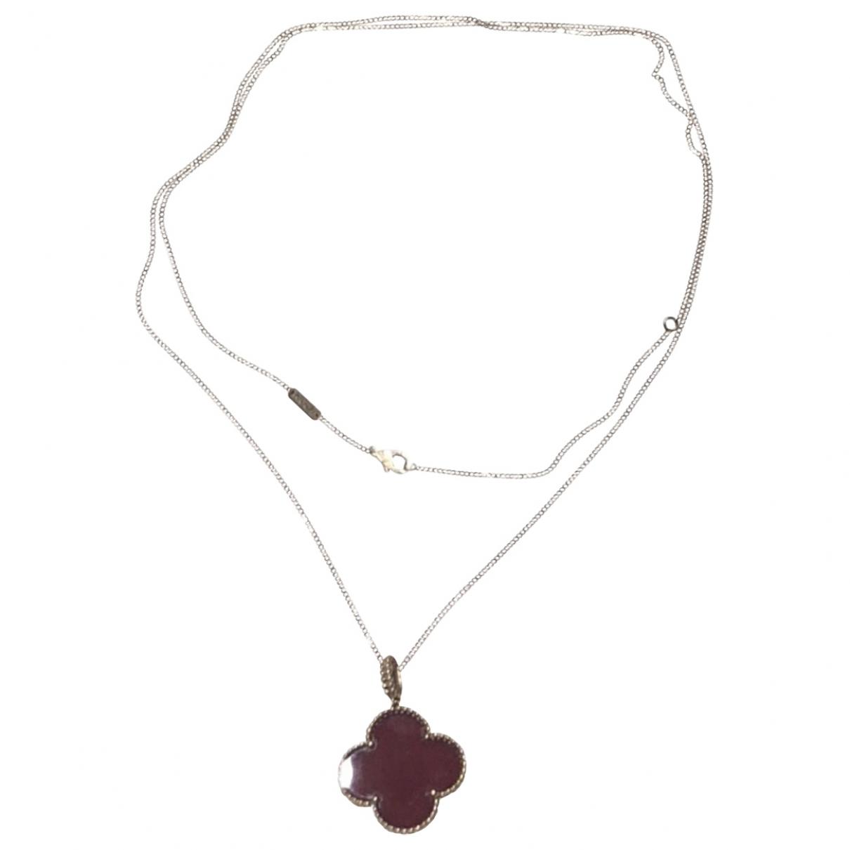 Van Cleef & Arpels - Collier Magic Alhambra pour femme en or rose - rouge