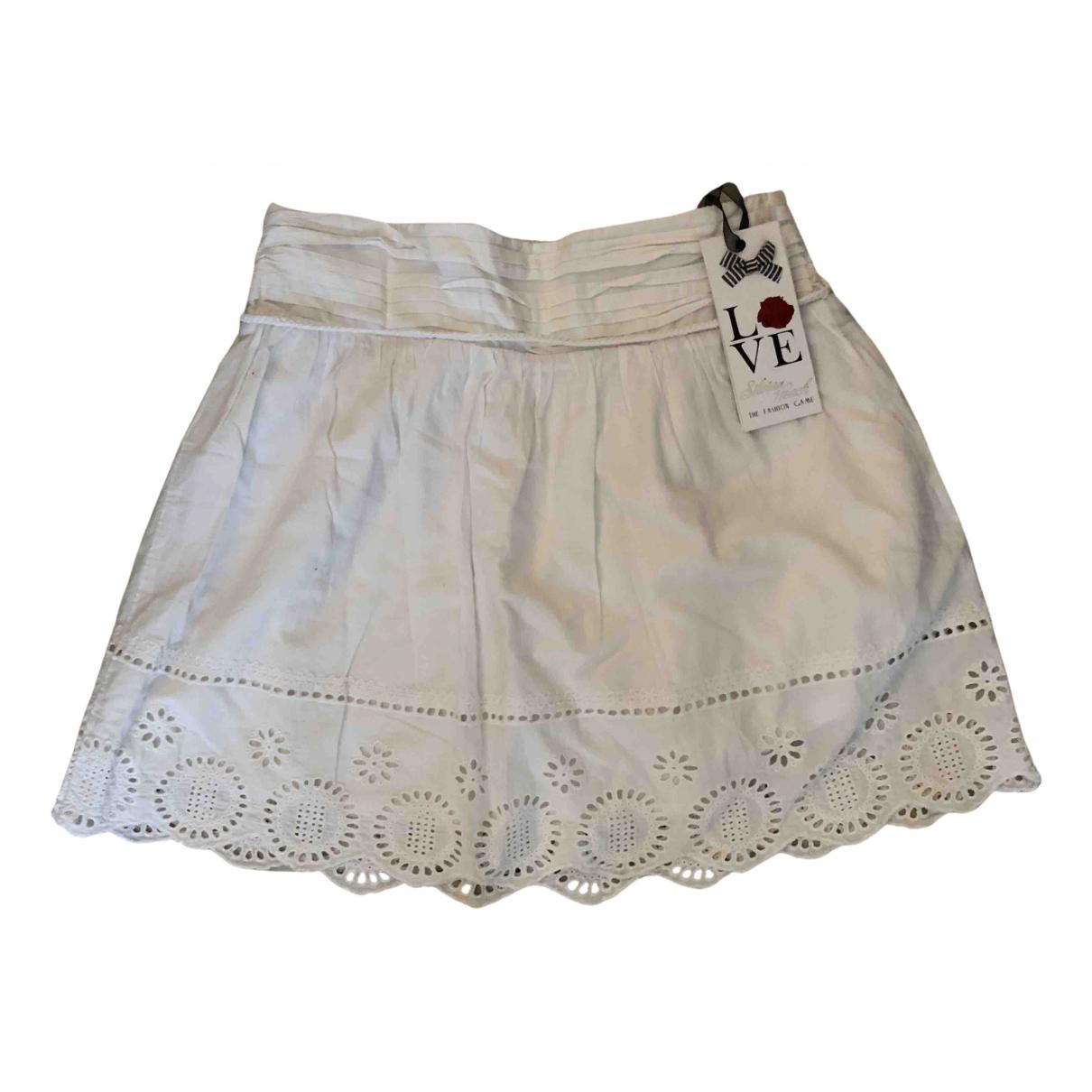 Silvian Heach - Jupe   pour femme en coton - blanc