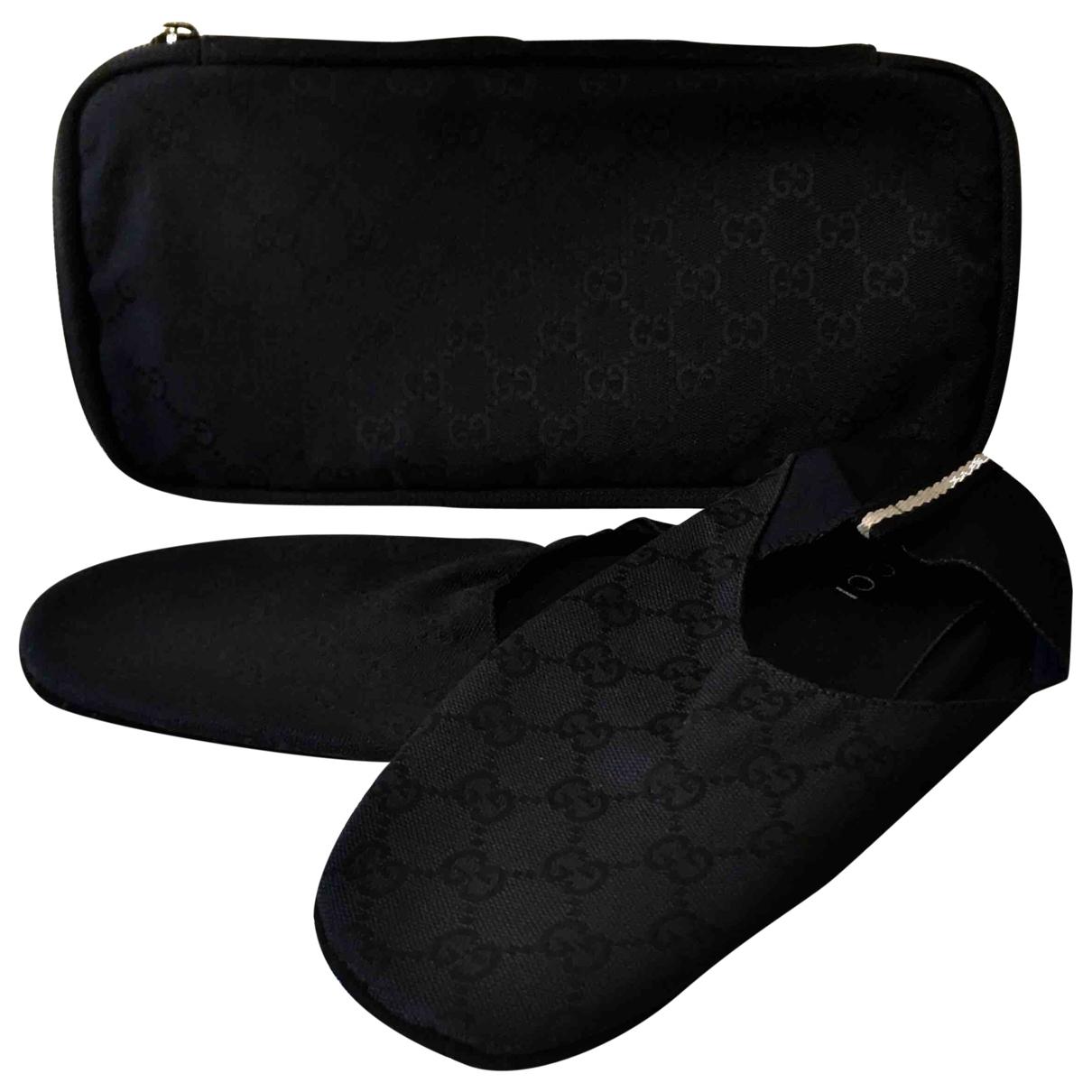 Gucci - Ballerines   pour femme en toile - noir