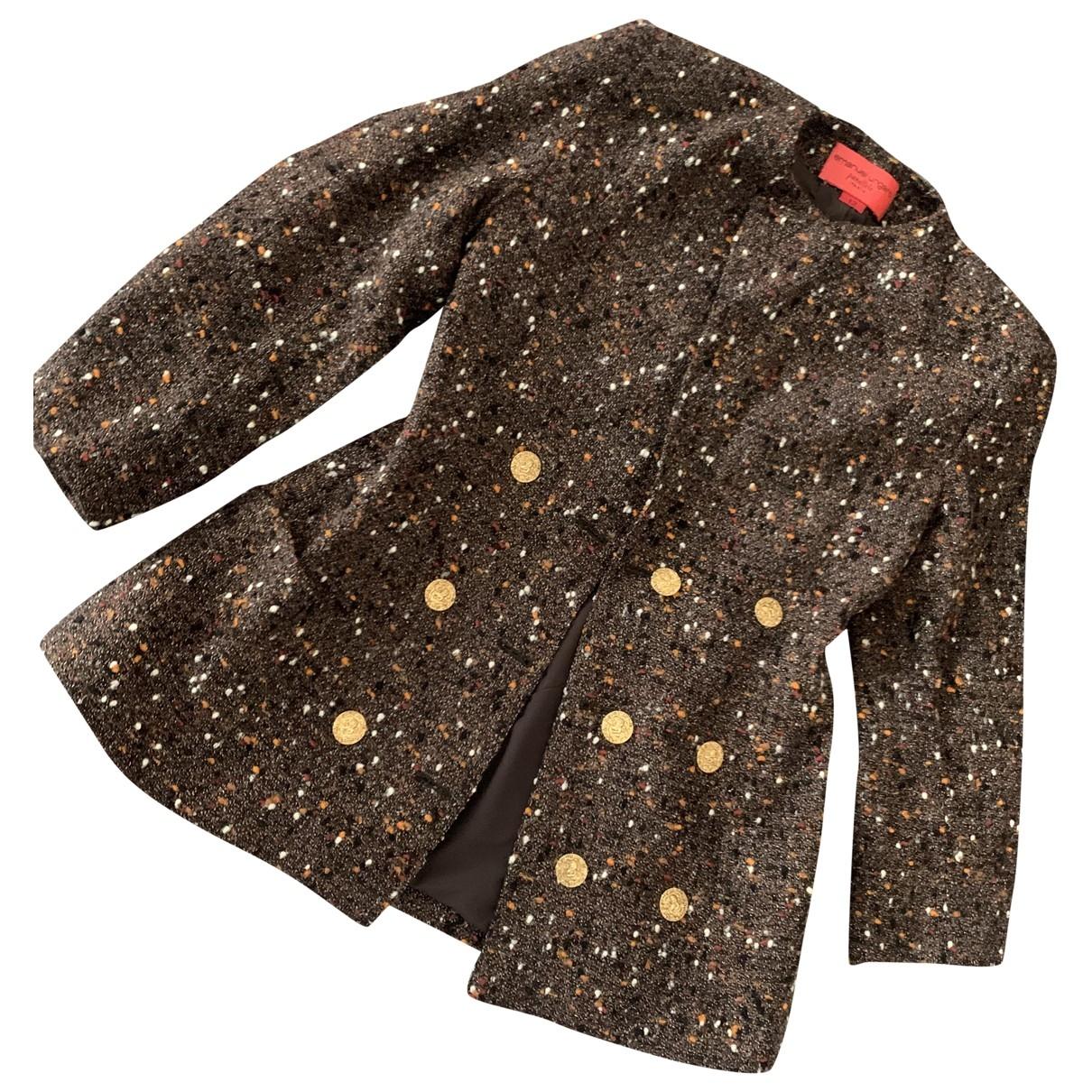 Emanuel Ungaro \N Multicolour Wool jacket for Women 12 UK