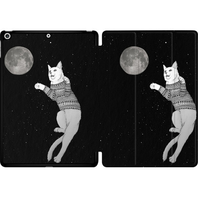 Apple iPad 9.7 (2017) Tablet Smart Case - Hipster Cat Trying to Catch the Moon von Barruf