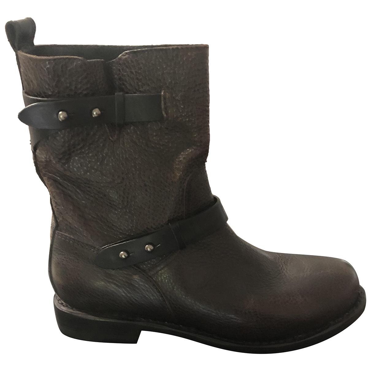Rag & Bone N Brown Leather Boots for Women 39 EU
