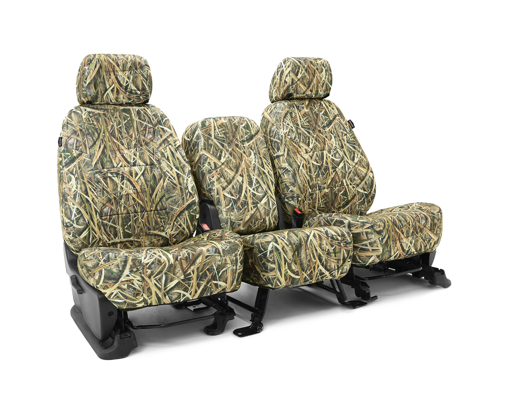 Coverking CSCMO07FD9779 Skanda Custom Seat Covers 1 Row Neosupreme Mossy Oak Shadow Grass Blades Solid Front Ford F-150 2015-2017