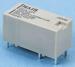 Panasonic , 12V dc Coil Non-Latching Relay DPST PCB Mount