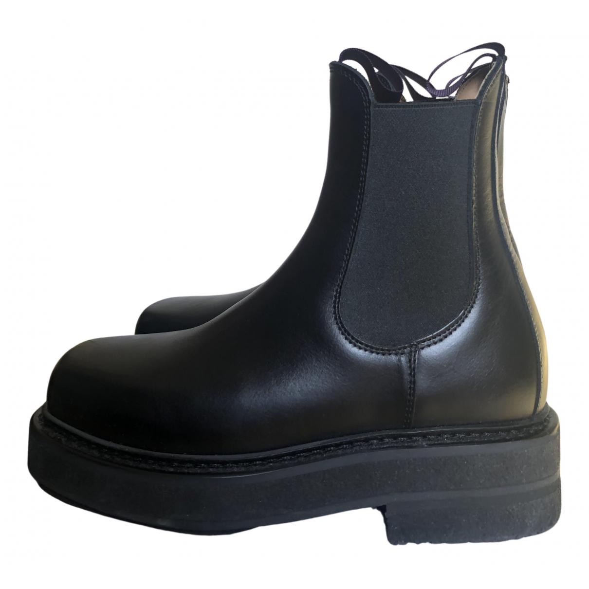 Eytys N Black Leather Ankle boots for Women 36 EU