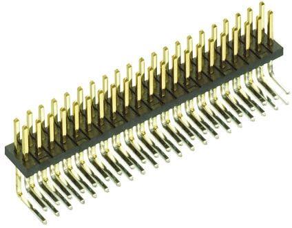 HARWIN , Archer M50, 100 Way, 2 Row, Right Angle Pin Header