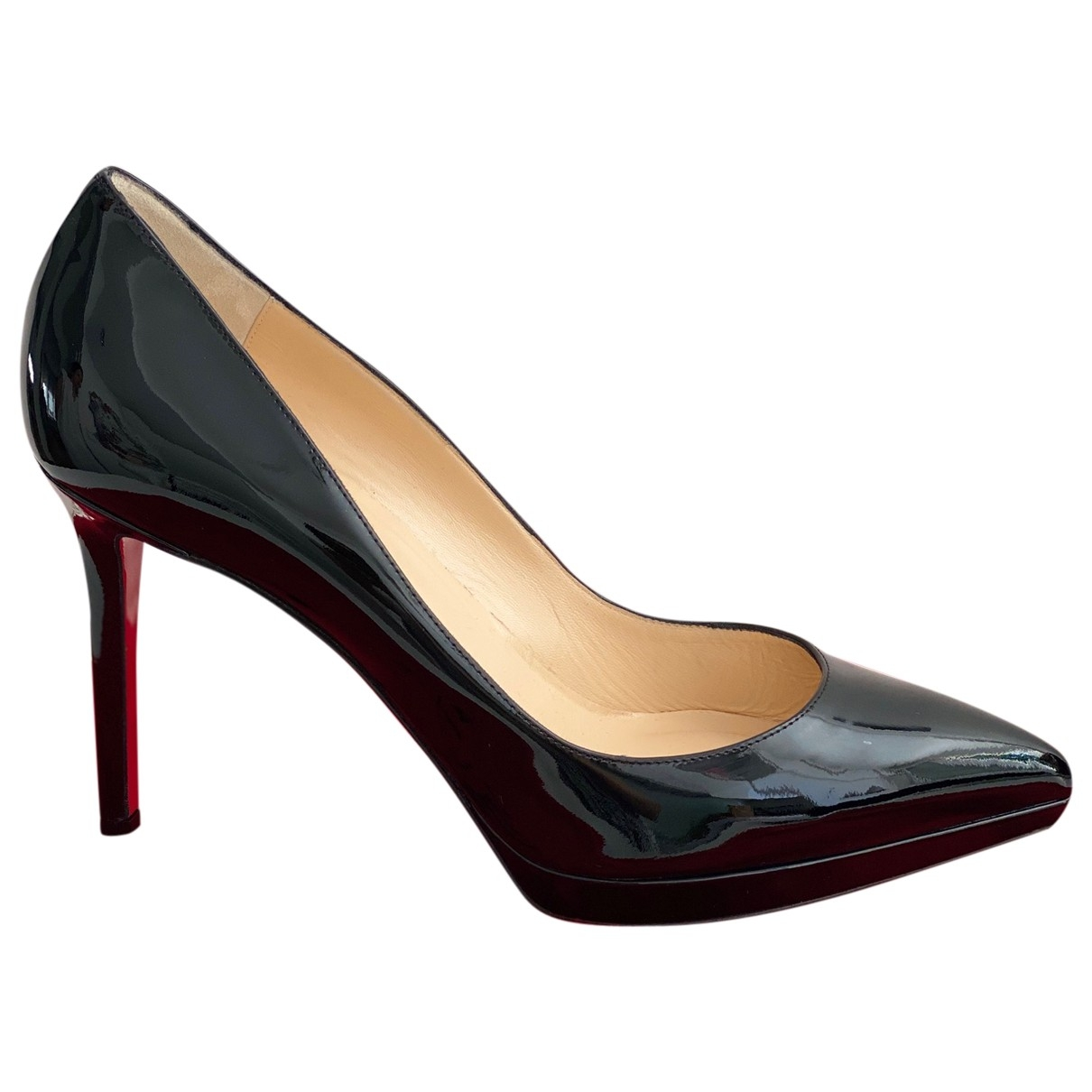 Christian Louboutin Pigalle Plato Black Patent leather Heels for Women 42 EU