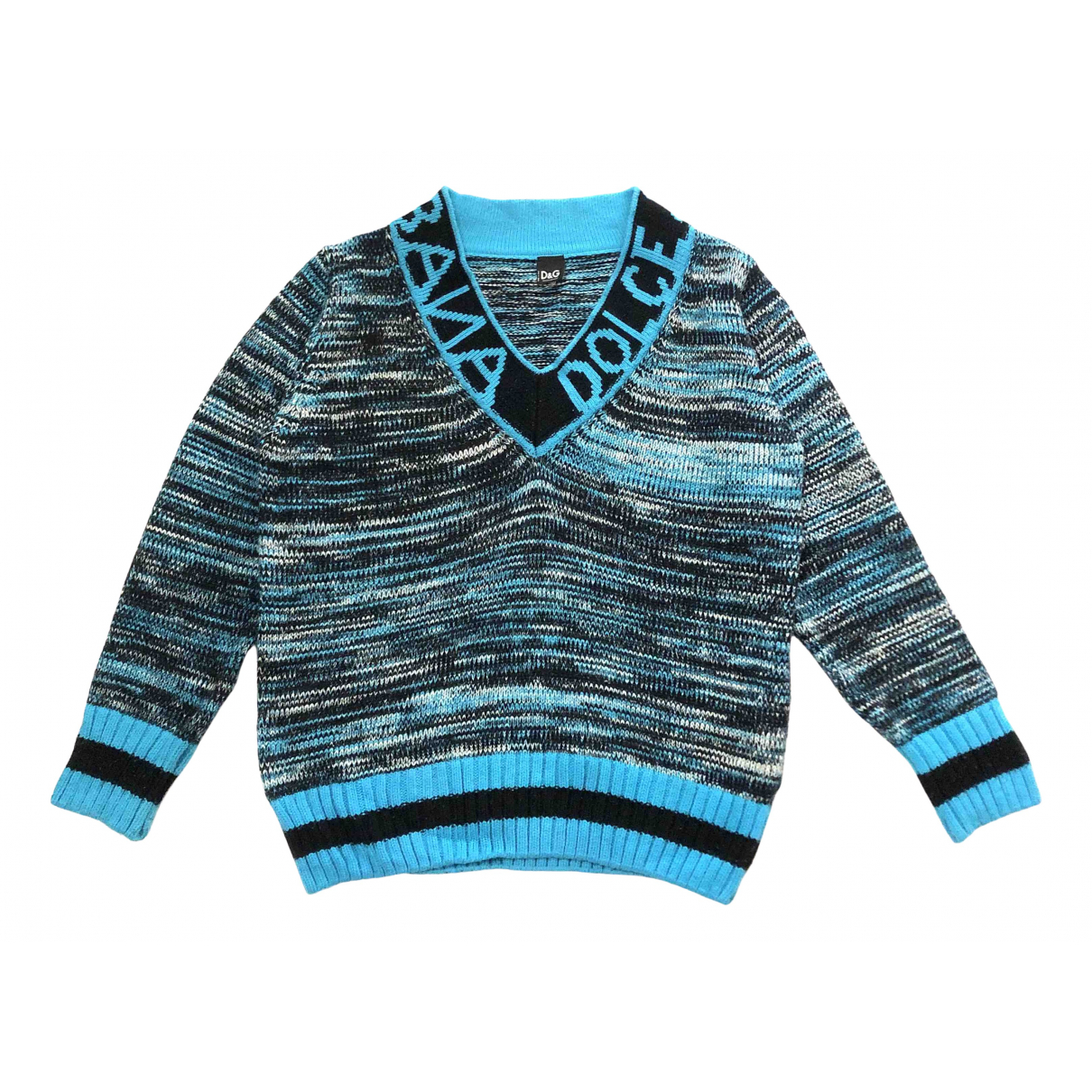 D&g \N Pullover in  Blau Wolle