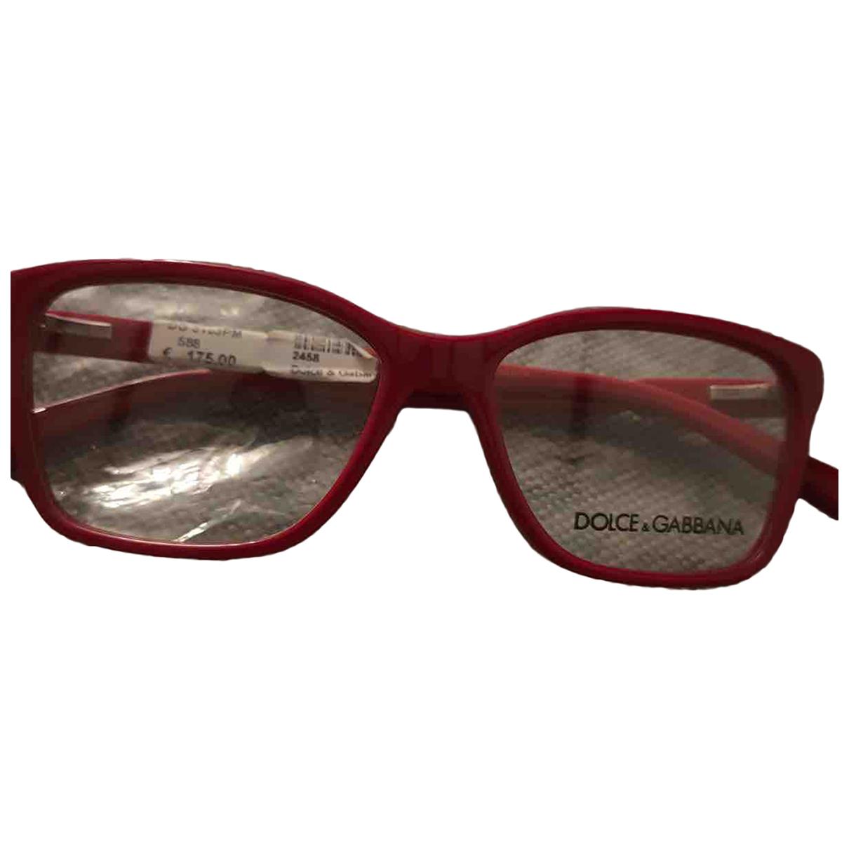Dolce & Gabbana - Lunettes   pour femme - rouge