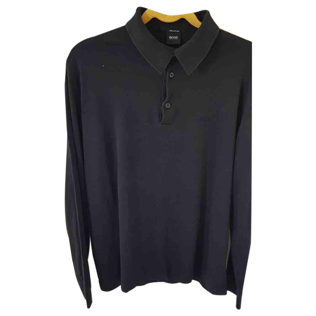 Boss - Polos   pour homme en coton - noir