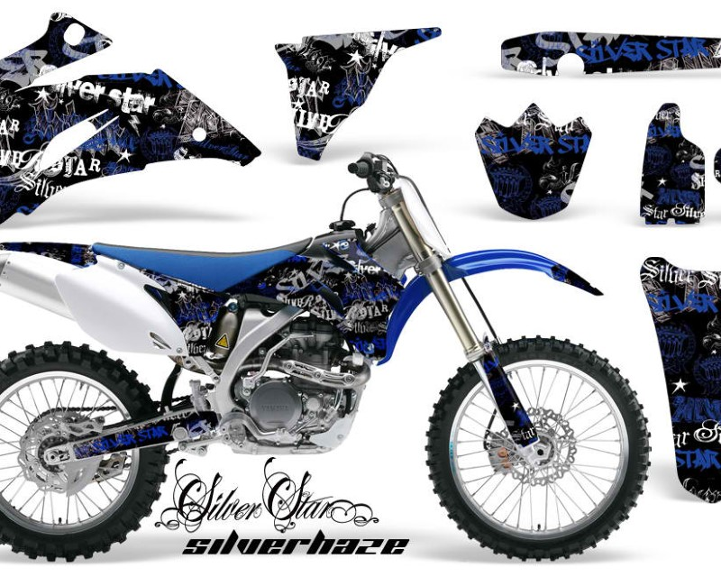 AMR Racing Dirt Bike Graphics Kit Decal Wrap For Yamaha YZ250F YZ450F 2006-2009áSSSH BLUE BLACK