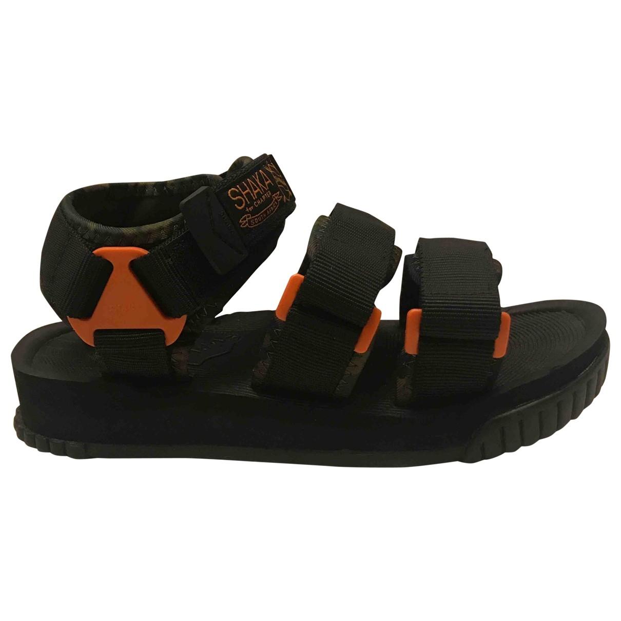 Non Signé / Unsigned \N Black Cloth Sandals for Women 38 EU