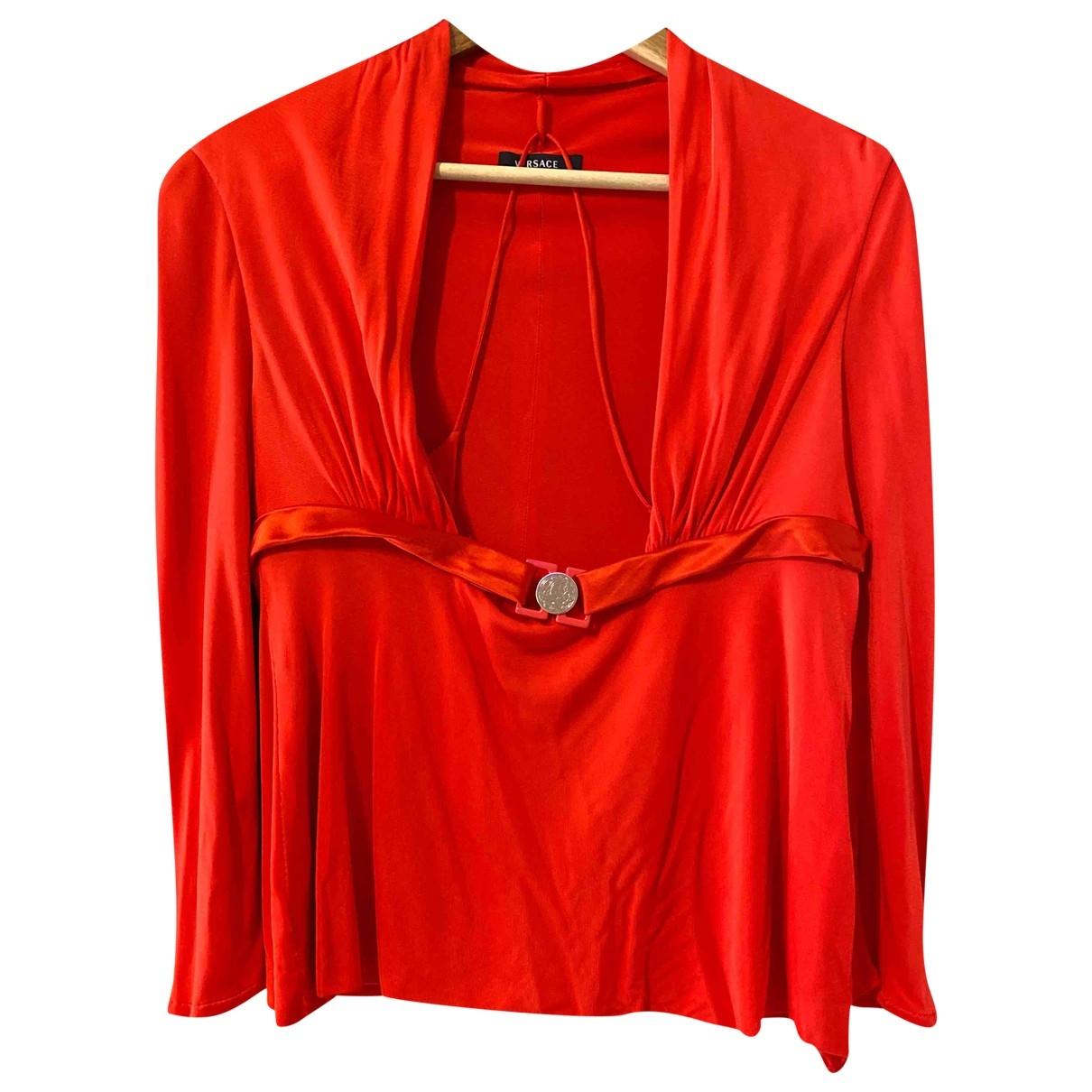 Versace - Top   pour femme - rouge