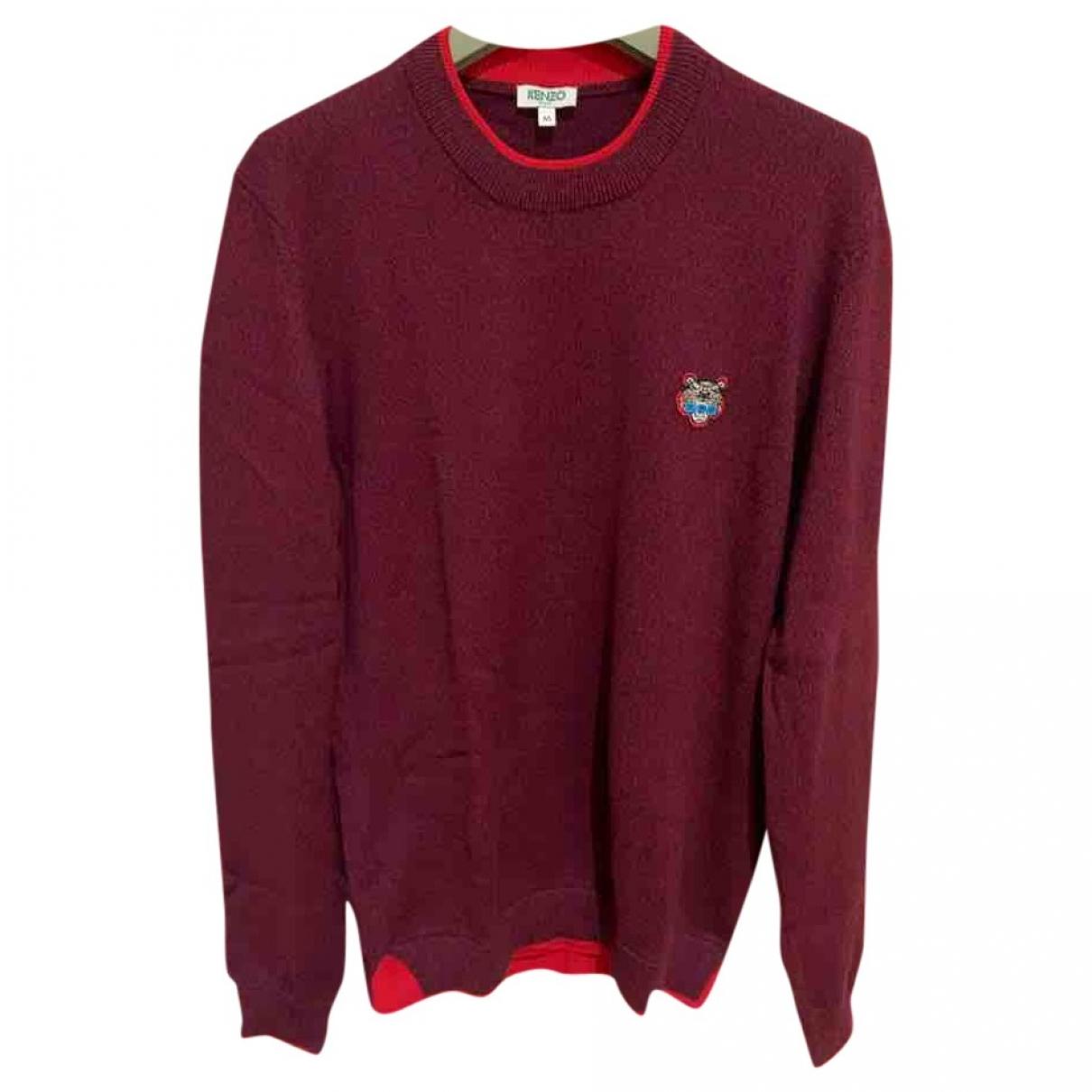 Kenzo \N Pullover.Westen.Sweatshirts  in  Bordeauxrot Wolle