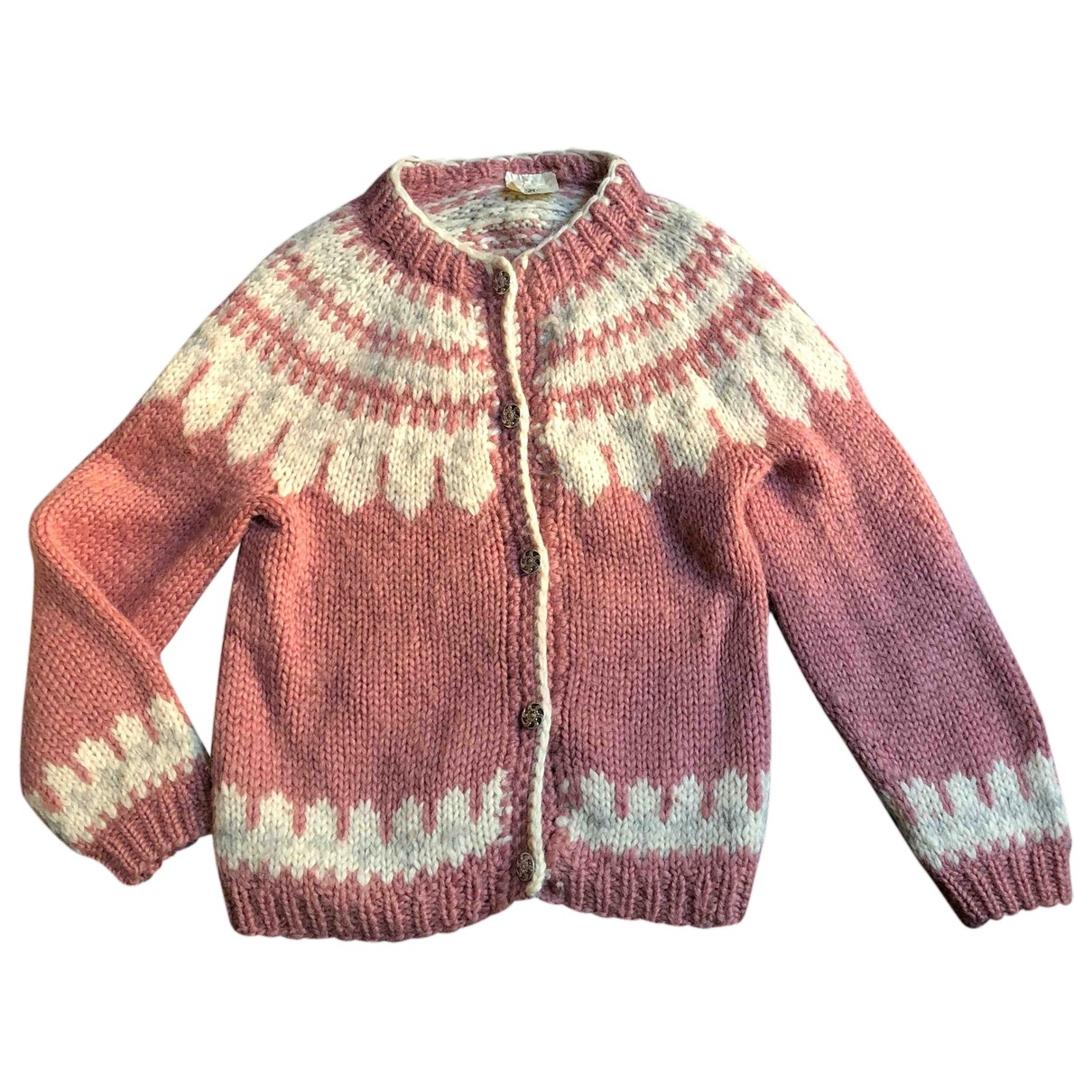 Non Signé / Unsigned \N Pink Wool Knitwear for Women 40 IT