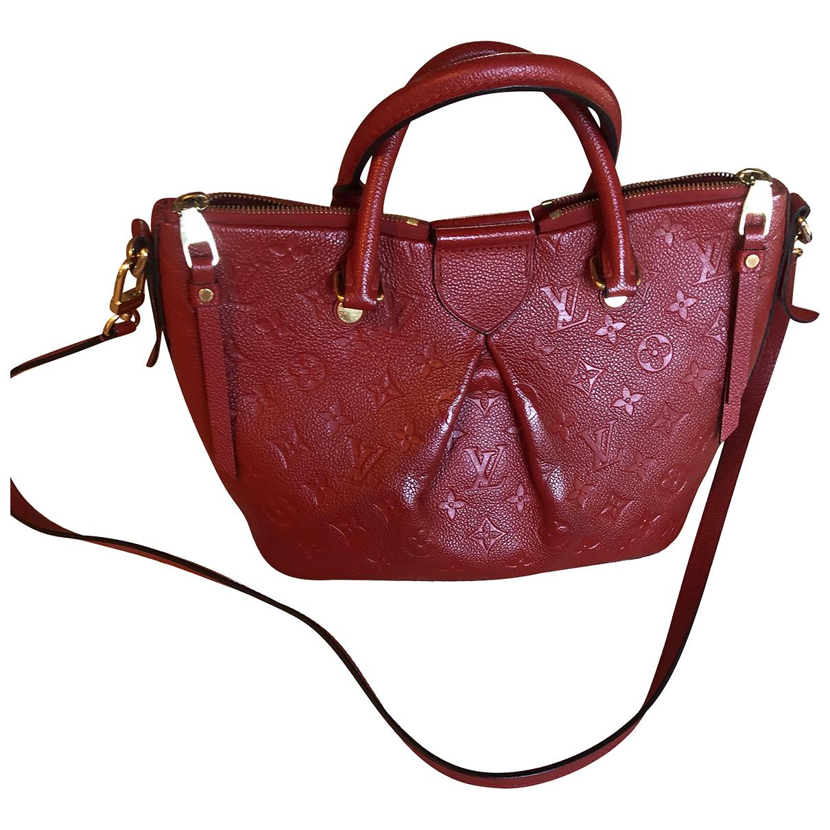 Louis Vuitton - Sac a main Mazarine pour femme en cuir - rouge
