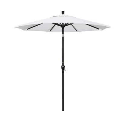 GSPT758302-5404 7.5' Pacific Trail Series Patio Umbrella With Stone Black Aluminum Pole Aluminum Ribs Push Button Tilt Crank Lift With Sunbrella 1A