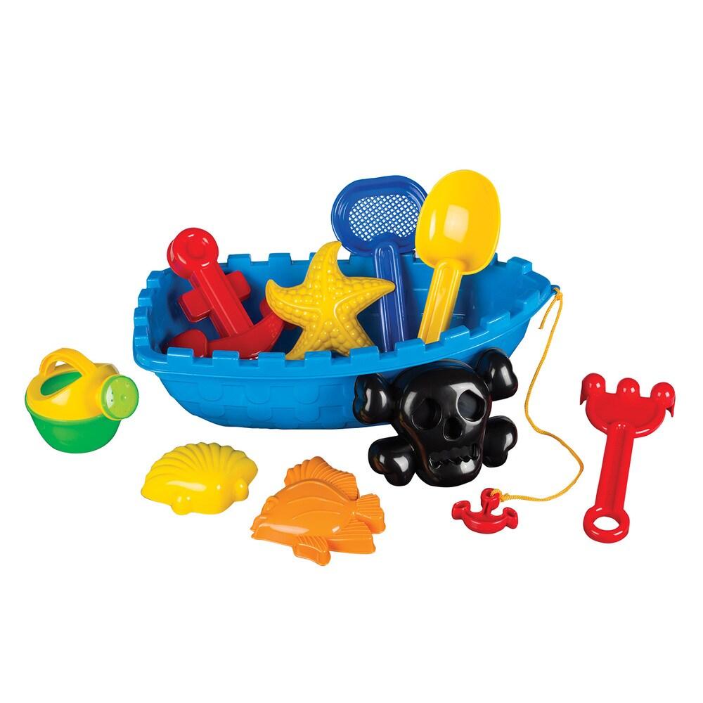 Toysmith Pirate Ship Beach Toys Set (G085761219809)