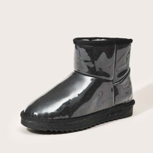 Round Toe Waterproof Warm Ankle Boots