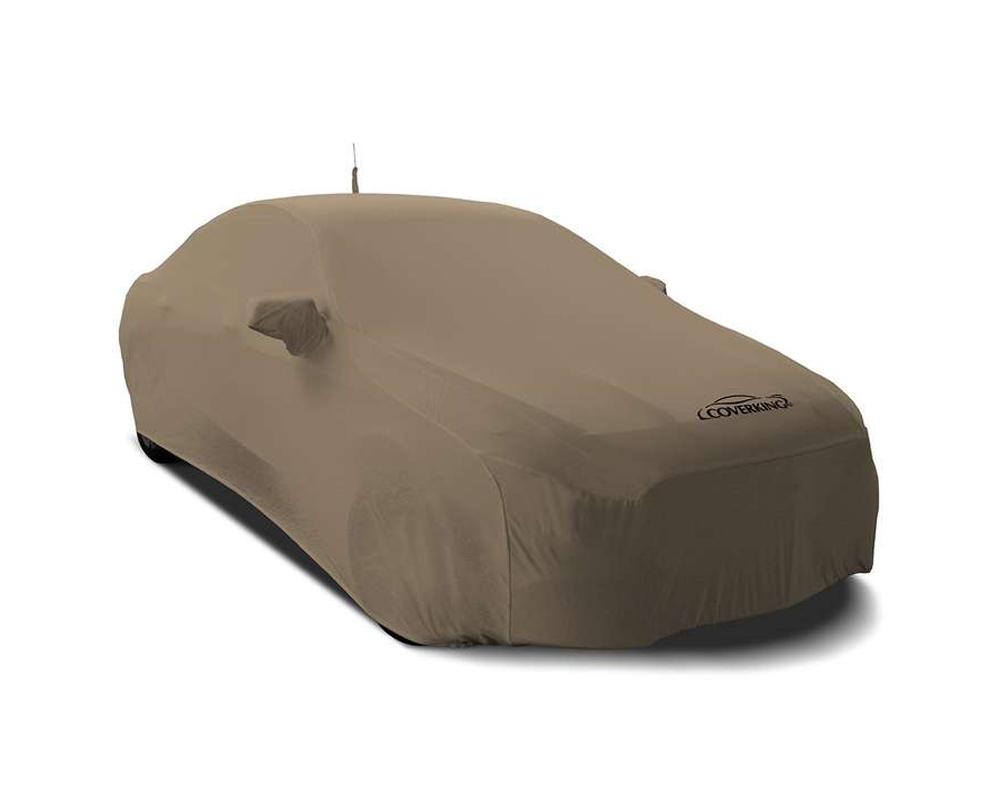 Coverking CVC3SS87AU9315 CVC3SS87 Satin Stretch Sahara Tan Custom Car Cover Audi S3 16-20