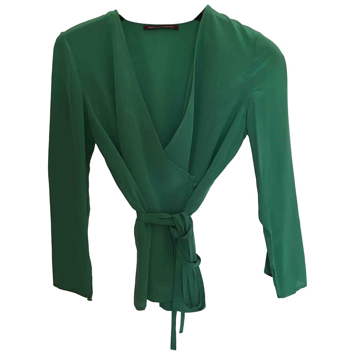 Comptoir Des Cotonniers - Top   pour femme en soie - vert